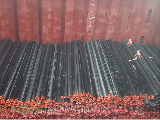 BETA  LOGISTICS LIMITED  loaded  2000 CARBON STEEL PIPES at Tianjin